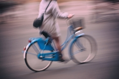 Blue Bike Blur